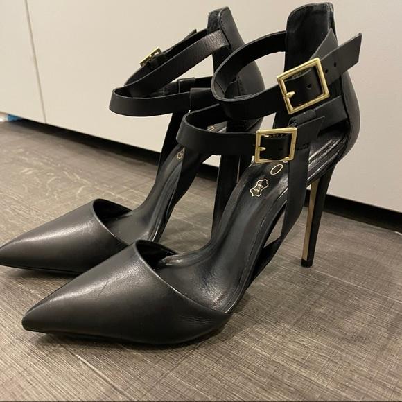 Aldo pointed stiletto heels with straps
